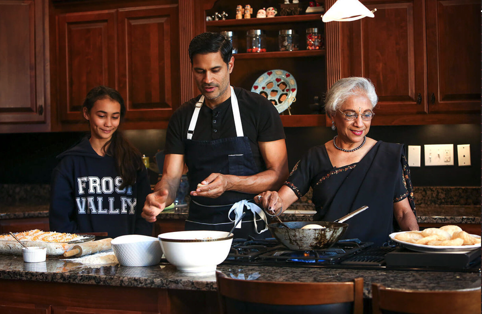 Three Generations of the Nawab Family Gather in Louisville