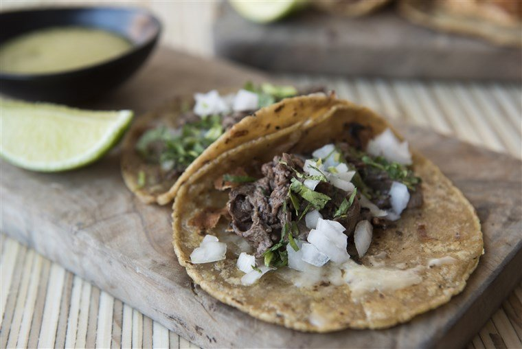 Charred steak tacos from Alta Calidad